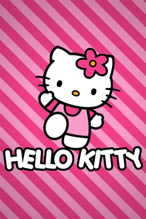 Pink Hello pink hello with striped background wallpaper free