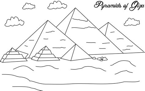 Pyramid Coloring Pages pyramids of giza coloring page for