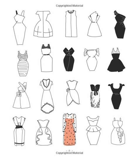 Clothes Design Easy | 20 ways to draw a dress and 44 other fabulous fashions and