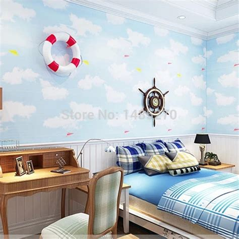 cloud bedroom wallpaper aliexpress com buy fashion cartoon wallpaper for kids