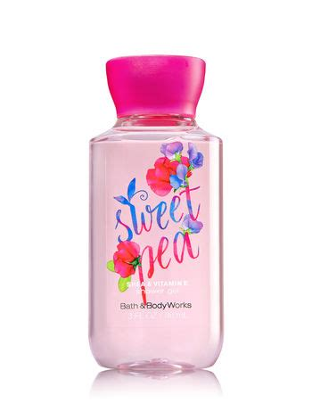 Shower Gel 88 Ml sweet pea travel size shower gel signature collection bath works