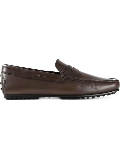 tods loafer tod s gommino loafers in brown for lyst
