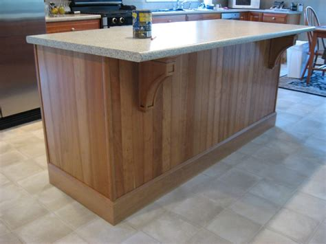 cherry mission corbels accent kitchen island osborne