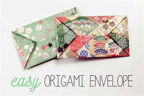 Simple Origami Envelope - easy origami envelope