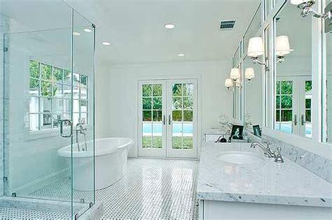 Modern White Bathroom Ideas by Small Bathroom Designs With Brown Ceramic Tile Floor