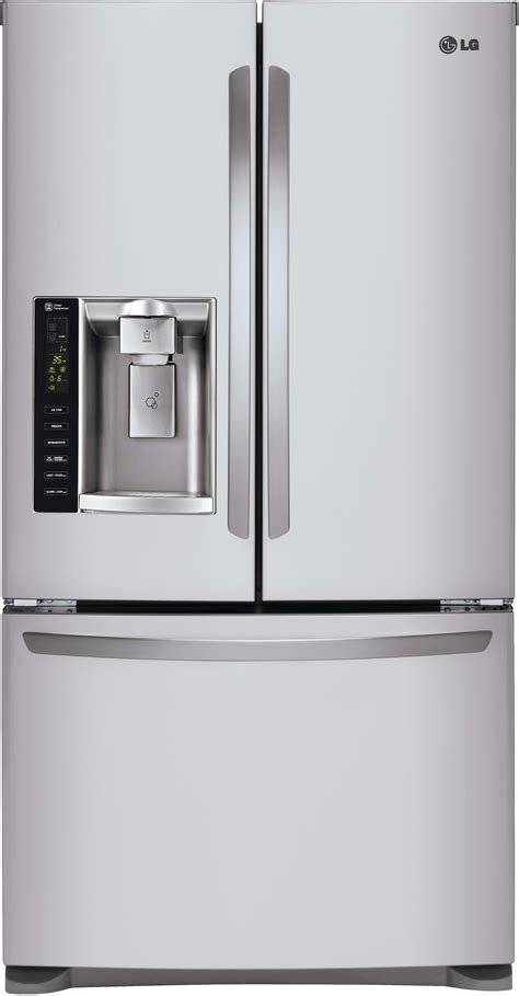 French Door Refrigerator With Dual Ice Makers - lg lfx25974st 36 inch french door refrigerator with slim spaceplus ice system smart cooling