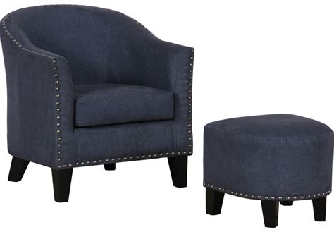 navy accent chair with ottoman lorrie navy accent chair ottoman accent chairs blue