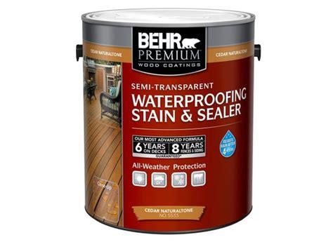 behr premium semi transparent waterproofing stain sealer