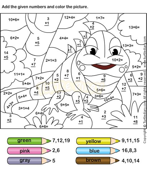 printable coloring pages for grade 4 color addition worksheets free printables for several