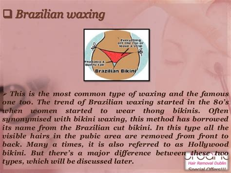 different types of waxes bikini waxing dublin