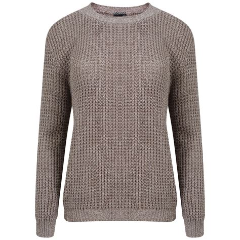 Chn Jumper new womens oversized chunky sweater baggy knitted jumper top