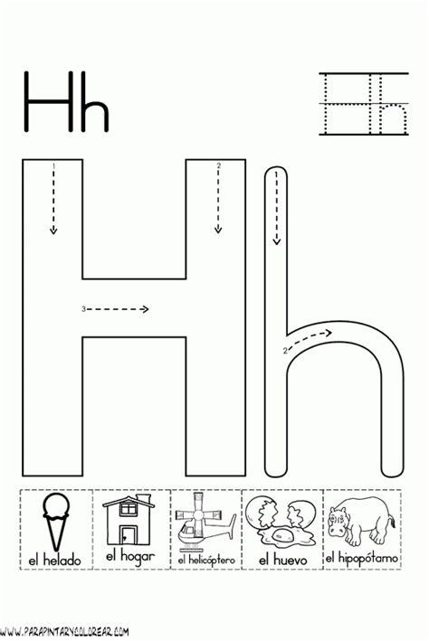 imagenes que inicien con la letra h el abecedario dibujos para colorear ciclo escolar