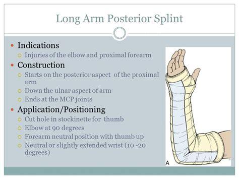 arm gutter splint procedures splinting ppt