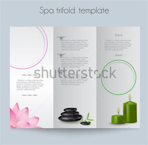 free spa brochure templates spa brochure template 20 documents in vector