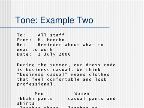 Email Etiquette Dress Code Reminder Email Template