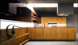 Kitchen Wood Furniture by Modern Kitchen With Luxury Wooden And Marble Finishes