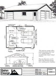 Garage Shop Plans Garage Plans With Shop 1200 5