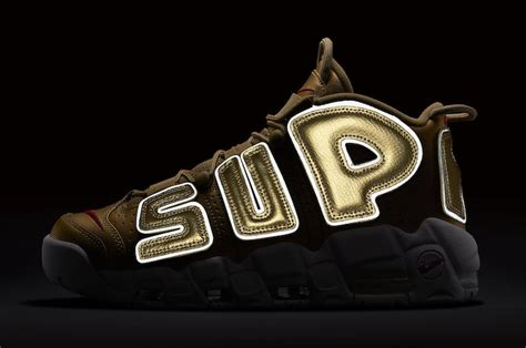 Harga Nike X Supreme Uptempo nike air more uptempo x supreme quot metallic gold quot shoe engine