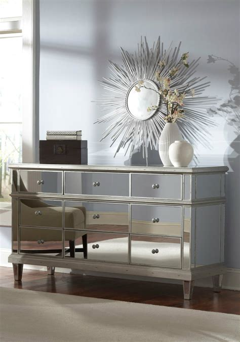 Mirrored Bedroom Dresser Mirrored Furniture For A Modern Interior Design Home Decor Ideas