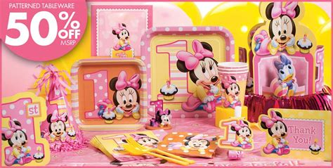 1st Birthday Decorations Minnie Mouse by Minnie Mouse 1st Birthday Supplies City