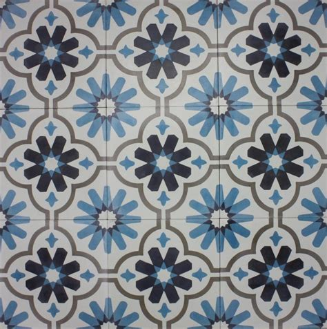 encaustic patterned vinyl encaustic tiles zafra pattern 200x200mm cement floor