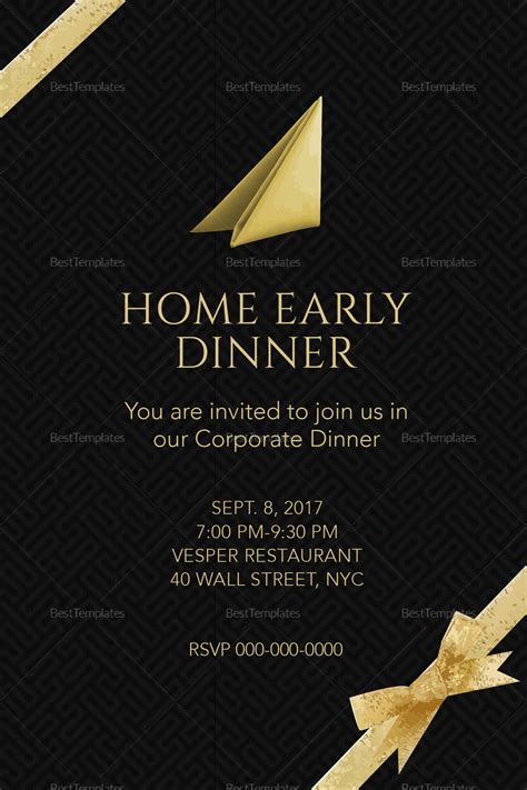 Dinner Invitation Letter Exle corporate dinner invitation template 28 images dinner