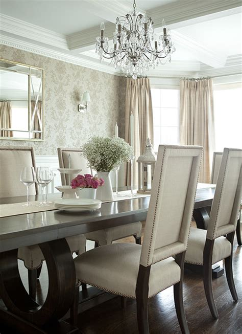 Fancy Dining Room Chairs Island Home Transitional Dining Room New York By The Abode Interior Design