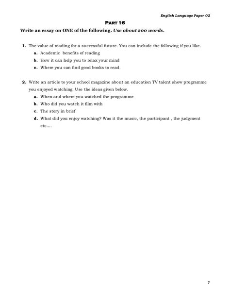700 Word Essay by Tips For Writing An Effective 700 Word Essay