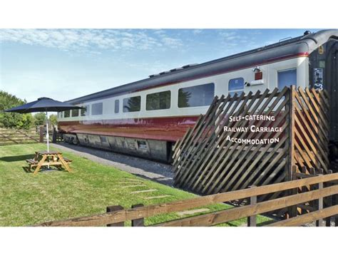 Railway Cottages Whitby by Converted Railway Carriage Hawsker High Hawsker