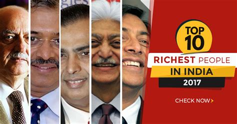 top 10 richest in india 2017 10voted