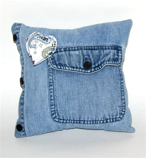 Novelty Pillow novelty pillow made from recycled denim