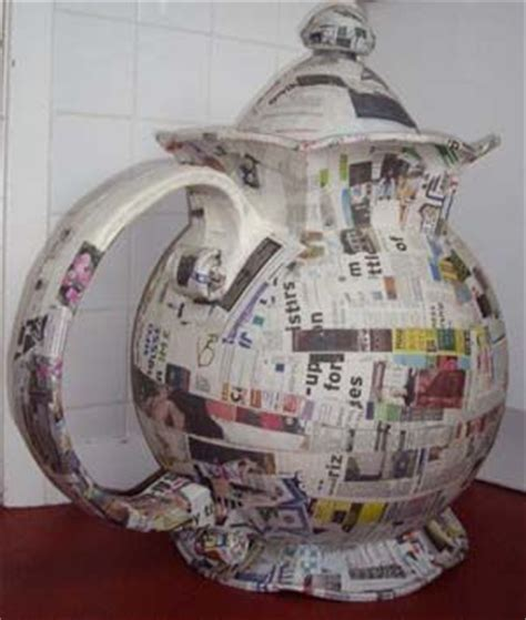 How To Make A Paper Teapot - mad hatter in land diy paper mache teapot