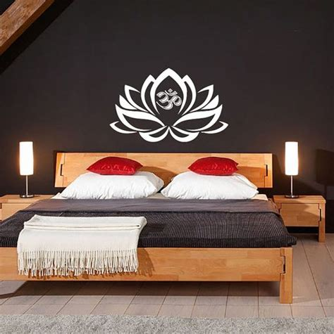 yoga home decor lotus flower with om sign yoga wall decals wall vinyl