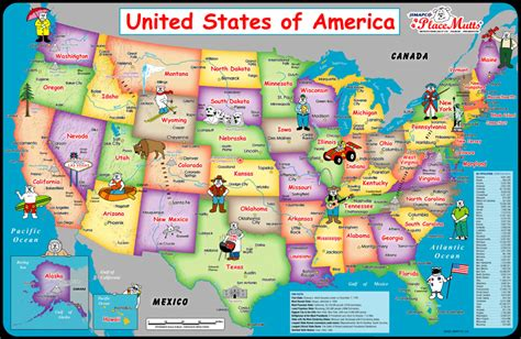 map of the united states kid friendly placemutts 174 usa placemat map for kids 171 jimapco