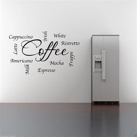 wall stickers words and phrases coffee words phrases kitchen wall sticker lounge quote