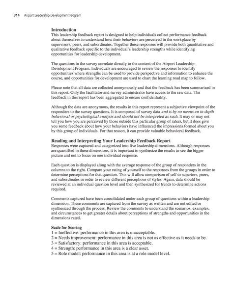 how to write a feedback report sle appendix b sle feedback report airport leadership