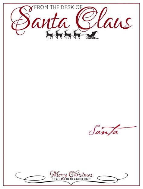 desk letter head santa claus santa letter