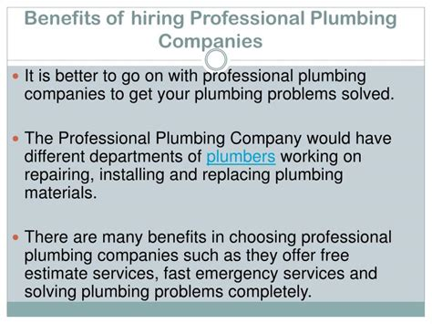 Hiring Plumbing by Ppt Essential Tips For Hiring Professional Plumbers