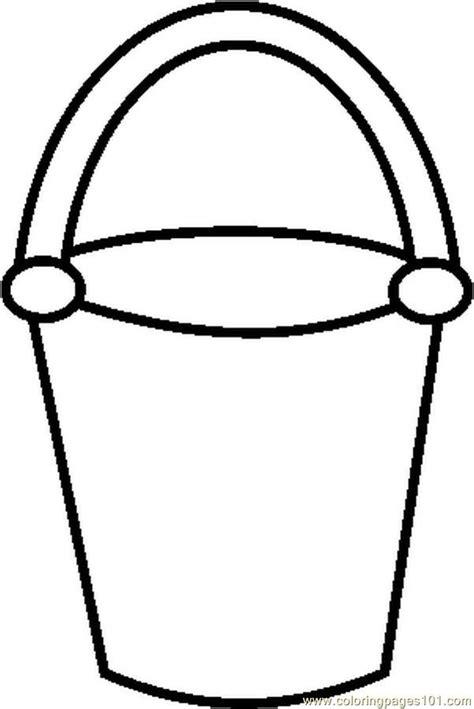 4 best images of bucket outline printable bucket filler