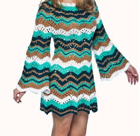 zig zag pattern dress crochet dress with trend 2016 technical zig zag with step