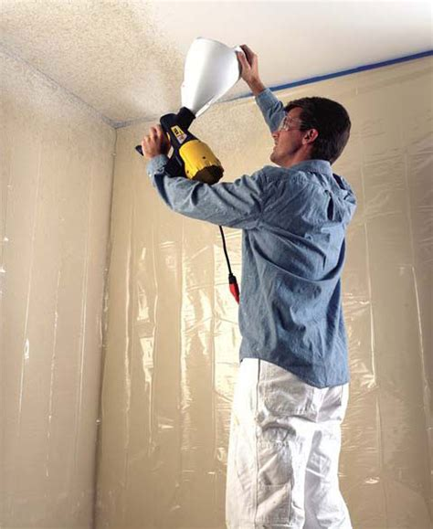 spray painting new drywall wagner power tex texture sprayer ceiling drywall tool