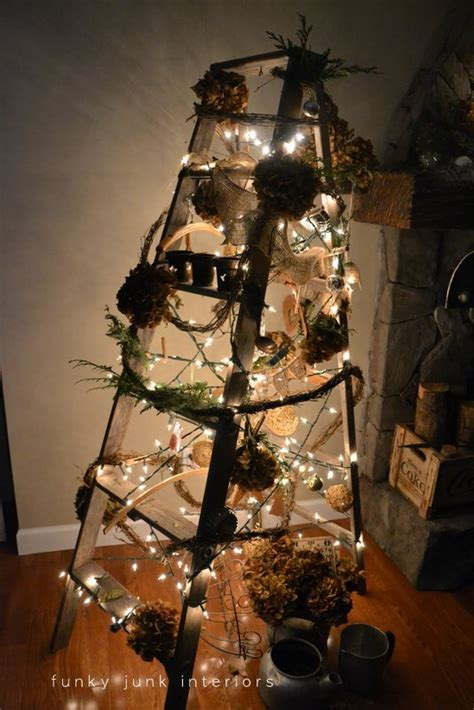how to make a ladder christmas tree a treeless ladder tree day 10 funky junk interiorsfunky junk interiors