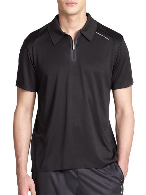 porsche clothing porsche design driver s polo shirt in black for men lyst