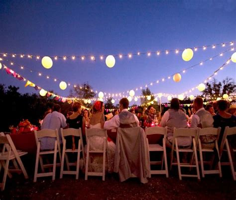 outdoor wedding party lighting ideas sang maestro