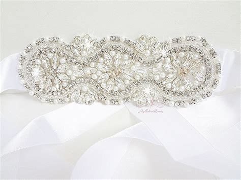 beaded wedding sash bridal sash belt rhinestone pearl beaded applique wedding