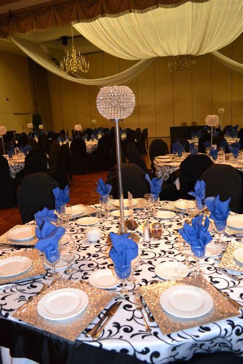black  white wedding table settings table