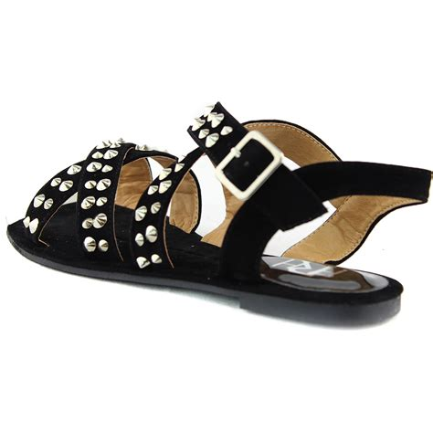 comfortable flat sandals women s casual comfortable gladiator studded strappy flat
