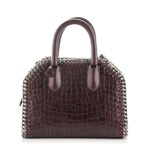 Introducing Chanel Faux Croc Purse by Stella Mccartney Faux Leather Croc Embossed Mini Falabella