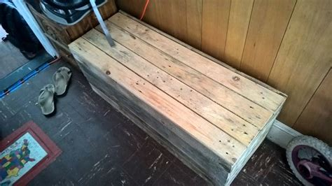 storage bench made from pallets 24 diy plans to build a bench from pallets guide patterns