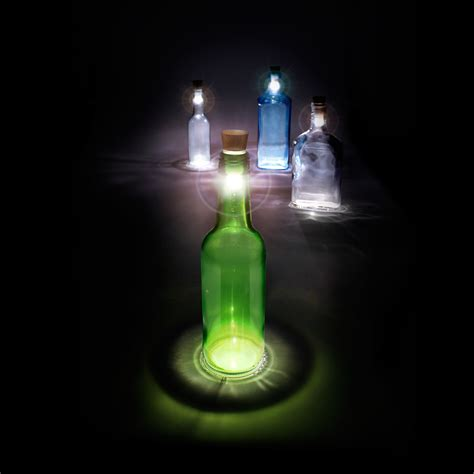Turn A Bottle Into A Lamp With The Bottle Light From The Lights In A Bottle